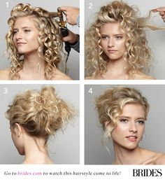 Find out how to #DIY this beautiful bridal hairstyle! | Brides.com
