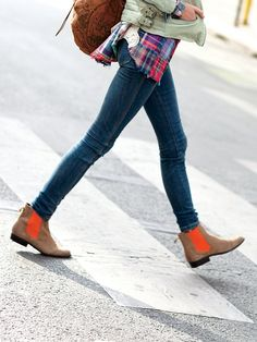 Neon ankle boot