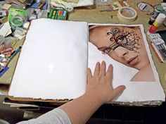 art journal inspiration / how-to - Lisa Vollrath - How she starts...