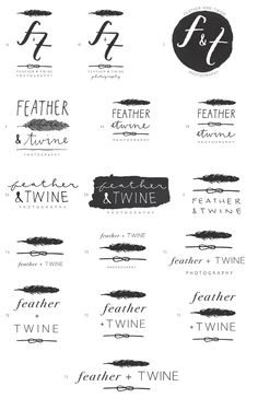 logo inspiration. sketches by Kathryn Whyte