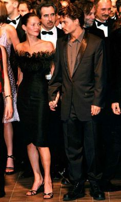 Kate Moss with Johnny Depp at Cannes Film Festival, 1998