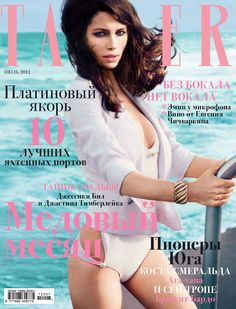 Jessica Biel by Mikael Jansson for Tatler Russia July 2012 #cover #editorial #design