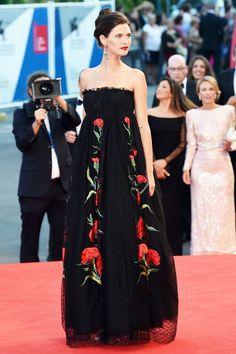 Bianca Balti in a Dolce & Gabbana at the Venice Film Festival 2014