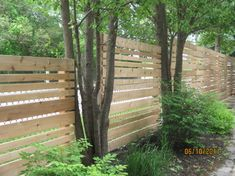 Incorporating trees into the fence