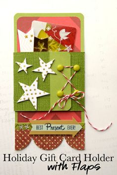 Gift card holder and tag.