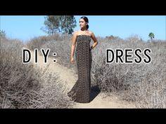 DIY: Easy Bandeau Dress - YouTube