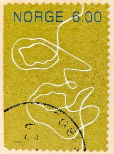 beautiful stamp Noreg Norge timbre postes postage 6.00 kr.