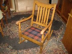 Mission style rocking/sewing chair