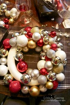 How To... Ornament Wreath   from Living Savvy