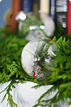 diy snow, christmas crafts, thrifty decor, nature, crafti christma, holidays, ornaments, snow ornament, diy christmas decorations