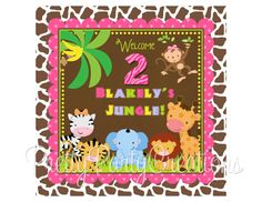 GIRLY JUNGLE welcome sign  YOU Print by PrettyPartyCreations, $7.50