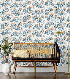 Peonies Copper wallpaper