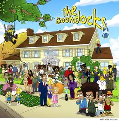 Holy S&^$ Balls    The Boondocks Meet The Simpsons and it kind of makes sense !!!!