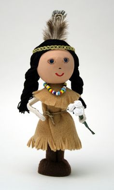 Native American Indian Craft - Thanksgiving Clothespin Dolls, Craft Kits by Montanye Arts