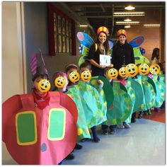 Storybook character hungry caterpillar class costume