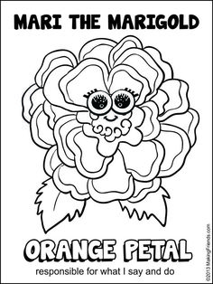 Daisy Girl Scout Orange Petal. Print them all out and make a collage of all the Girl Scout Daisy Petals. For more printables go to  MakingFriends.com