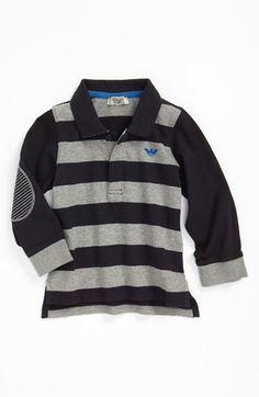 Armani Junior Stripe Polo (Infant) | Nordstrom