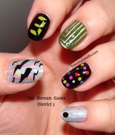Hunger Games District 3 (Electronics) Nails