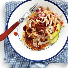 Dinner will be on the table in a flash with this delicious recipe. Pick up coleslaw, smoked chicken, and sauce from your favorite barbecue joint.