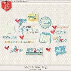 My Little One: Boy Wordarts by JB Studio