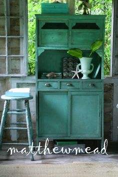 The most wonderful old cupboard retains all its function. Use as a bar for serving guests delicious, icy beverages.