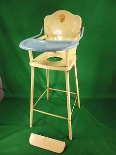 Vintage Amsco DOLL-E-HICHAIR Pressed Steel Childs Baby Doll High / Potty Chair | eBay