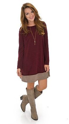 No need to worry about dresses that are cute, but not weather-practical, for the cooler weather! $48 at shopbluedoor.com