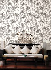 Tres Chic feature wall