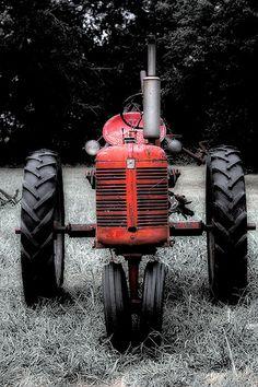 Old Red Tractor by Big Grey Mare, via Flickr
