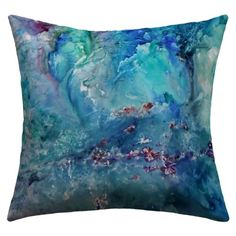 DENY Designs Rosie Brown Diver Paradise Outdoor Throw Pillow, 18 by 18-Inch DENY Designs http://www.amazon.com/dp/B00FNOUVW0/ref=cm_sw_r_pi_dp_xl66tb1X048DY   #art #sea #ocean #homedecor #amazon #denydesigns #throwpillow #pillow