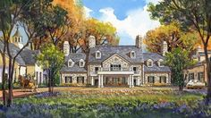 Rendering of the Salamander Resort & Spa in Middleburg, VA. Opening 2013. http://www.salamanderresort.com/