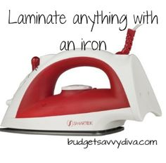 Laminate anything with an iron