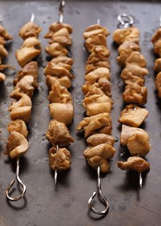 Beer and Brown Sugar Chicken Skewers (aka Grumpy Monk Chicken) - directions for the grill, the oven and the stovetop are all included!