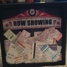 8 years of saving movie and concert tickets- I finally did something with them!!!  I LOVE this!!!!
