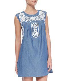 calita sleeveless dress / tory burch