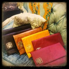 THESE JUST IN!!!   The new DWNY clutches are back and ready for the fall!! These clutches will add the perfect pop of color to any outfit this autumn.    The clutches are available in yellow, tan, blue, pink, brown, orange, white and maroon just to name a few.  The BEST thing about them is that they have a bright orange inside so it's easier to find your things!!  Come in, call in, or order online for your DWNY clutch this fall!   Contact: VictoriaDWNY@gmail.com or call 212.432.3969  Love,  DWNY
