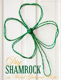 Party Ideas by Mardi Gras Outlet: DIY Shamrock Wreath with Glamour Rope