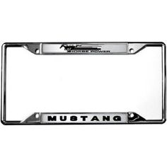 H.P. / Mustang License Plate Frame