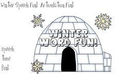 Speech Time Fun: Winter Speech Fun!