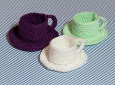 Tea Cup and Saucer Crochet Pattern PDF Crochet Pattern by etty2504, $3.90