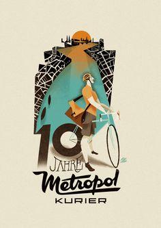 Metropol Kurier poster by Riccardo Guasco