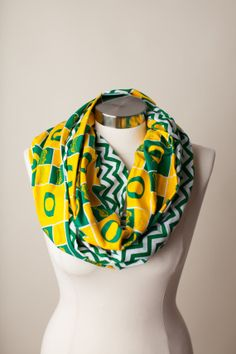 Oregon Ducks Infinity Scarf on Etsy, $24.00 #GoDucks