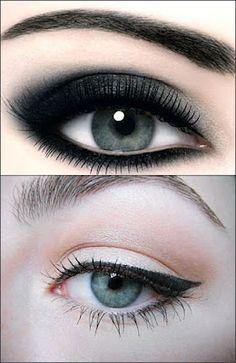 eyeliner styles, altern makeup, dark eyes, eye shadow, eyelin style