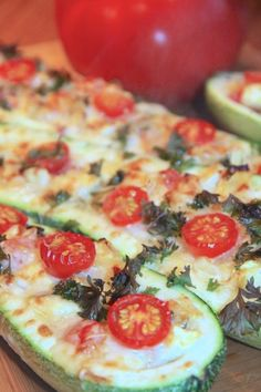 Stuffed Zucchini..... I usually make one with ground turkey in it but this is a vegetarian one and it sounds delish!