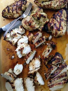 Grilled Chicken Breasts with Lime, Roasted Garlic and Fresh Herb Marinade.