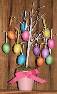 dollar store easter egg tree