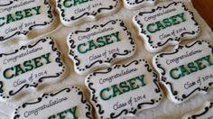 One dozen delicious custom plaque/place card/ by jaynessugarshack, $48.00