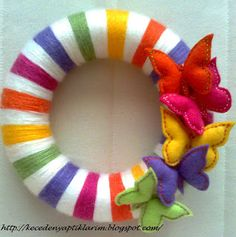 Felt Rainbow wreath
