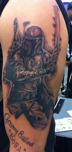 Boba Fett tattoo autographed by Jeremy Bulloch done by Hollywood @ Toronto Comic Con 2012.