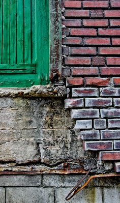 Chad Cogdill - Urban Landscape - brick, cement and painted wood